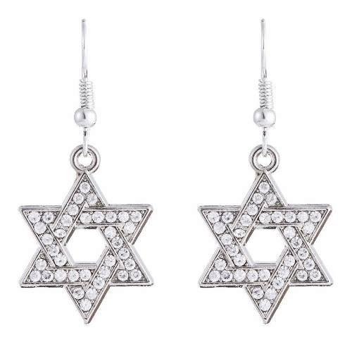 Cristal brillante estrella de david hexagrama talismán amul