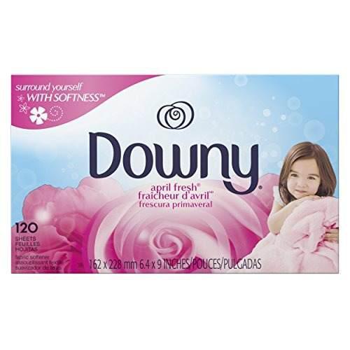 Downy April Fresh Fabric Softener Secadora Sheets, 120