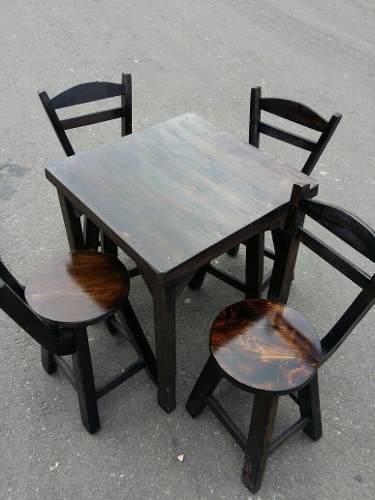 Juego de sillas y mesa bar restaurante cafeteria