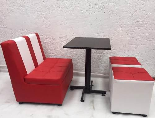 Juego puff silla mesa puff para bar restaurante discoteca
