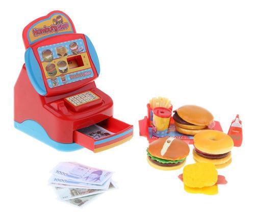 Juguete de restaurante de comida rápida con caja