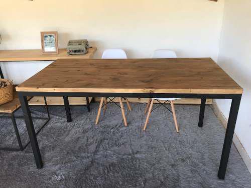 Mesa comedor restaurante estilo industrial lucca 160*80*78