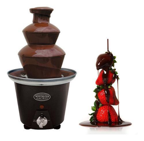 Mini fuente chocolate nostalgia 3 niveles fondue fresas !