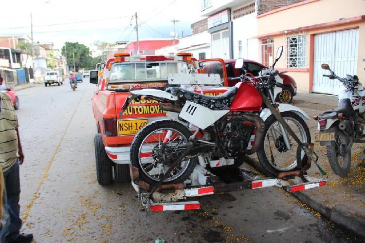 Servicio grua motocicletas de bajo y alto cilindraje
