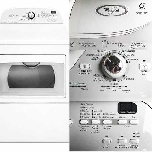 Secadora whirpool 21 kg 8 ciclos 6 niveles de secado
