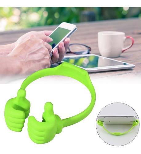Soporte para tablet o celular manos verde +o obsequio