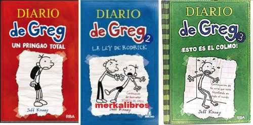 Trilogia diario de greg x 3 libros libros a eleccion nuevos