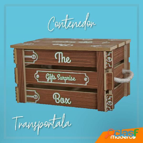 Caja para empacar ancheta navideña o empresarial hecha en madera 1