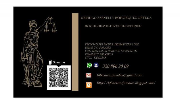 Abogado litigante -consultor- conciliador en derecho