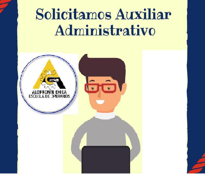 Auxiliar administrativo y académico (hombre) que viva en