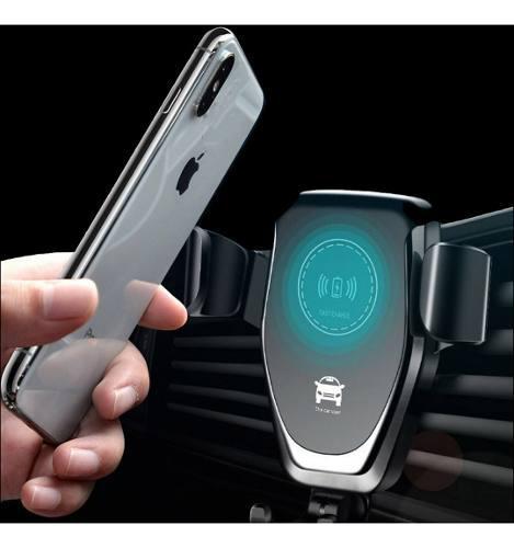 Cargador inalámbrico celular carro auto carga rápida qi