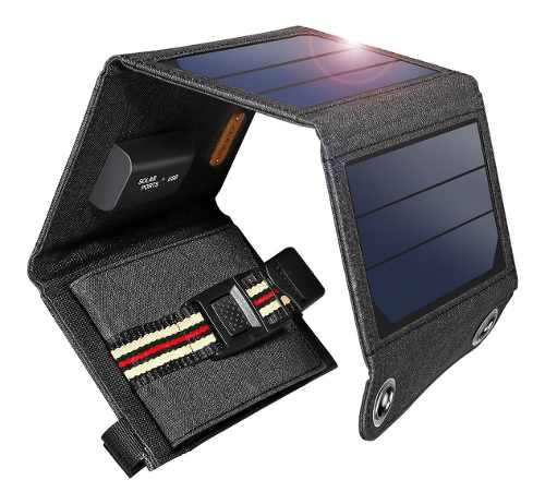 Cargador Panel Solar Portátil Suaoki 7w, Entrega Inmediata