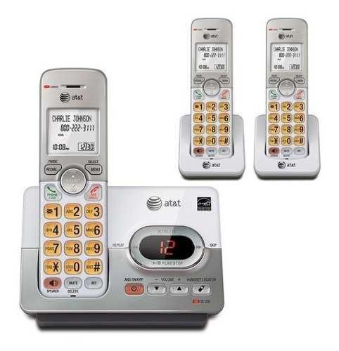 Kit 3 teléfonos inalambricos at&t telefonos