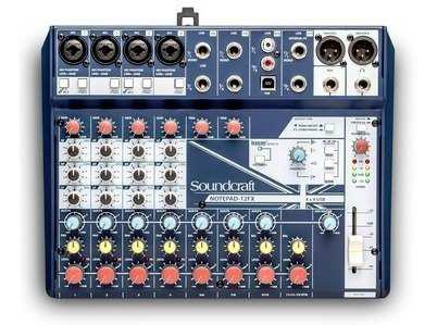 Mixer/mezclador soundcraft notepad-12fx con efectos