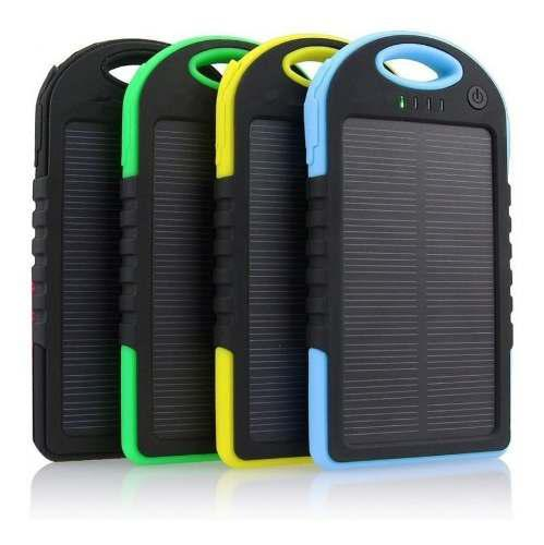 Power bank panel solar linterna luz led cargador portatil