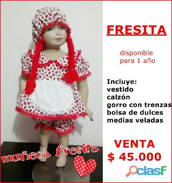 Venta de disfraces nuevos de muñeca fresita para bebe niña en itagui