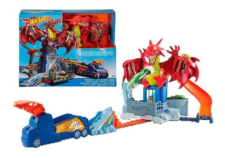 Combo pista hot wheels dragon blastpropulsorextensiones8