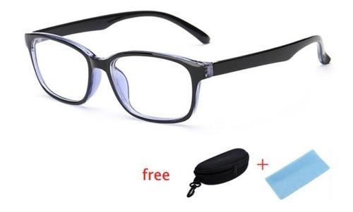Gafas para computador, descansa la vista!!! negras con azul!