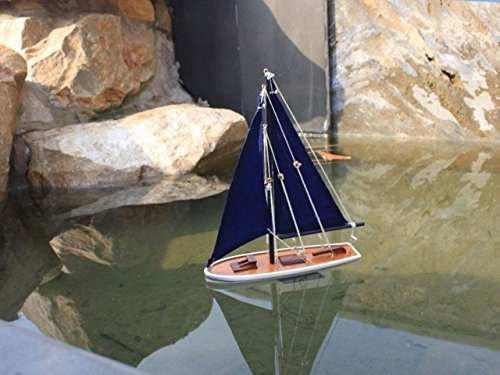 Hampton náutica flota velero flotante, 12, azul /blanco