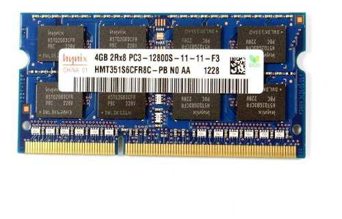 Memoria ram ddr3 pc3 12800s 4gb portatil apple imac hp lenov