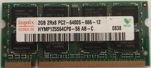 Memorias ddr2 2gb para portátil varias marcas. garantia