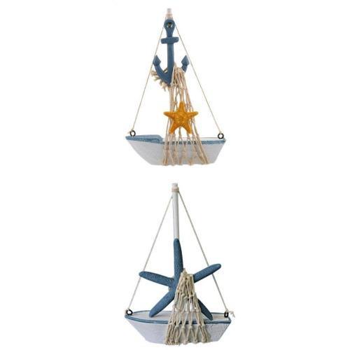 Modelo velero náutico ancla estrella de mar velero decoraci