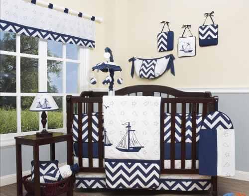 Ropa de cama para niños ropa de cama azul velero náutico