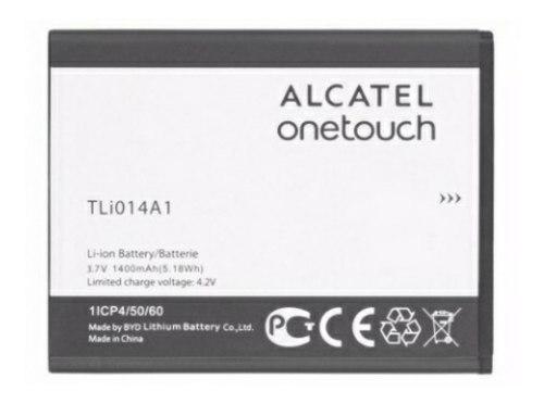 Bateria alcatel pop c1 tli014a1 1400mah + power bank 2600mah