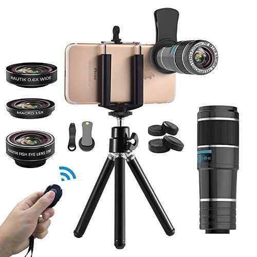 Kit lente camara 6 en 1 + tripode + disparador automatico
