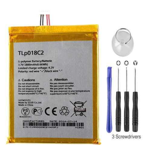 Nuevo reemplazo de batería tlp018c2 para alcatel one touch