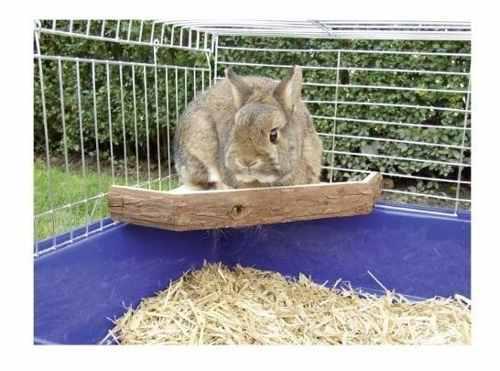 Plataforma de madera natural niteangel para conejos chinchil