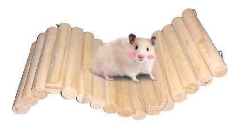Puente de madera de hámster sirio, juguetes de escalada...