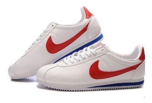 Zapatillas nike cortez borrador blanco rojo mujer tenis orig ...