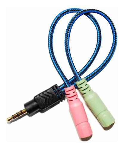 Cable convertidor adaptador audio y micrófono 3.5mm xbox