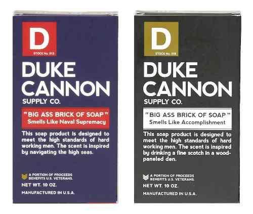 Duke cannon big brick of soap for men, 2 pack naval suprem