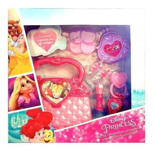 Set de cartera con accesorios disney princesas con 10 piezas