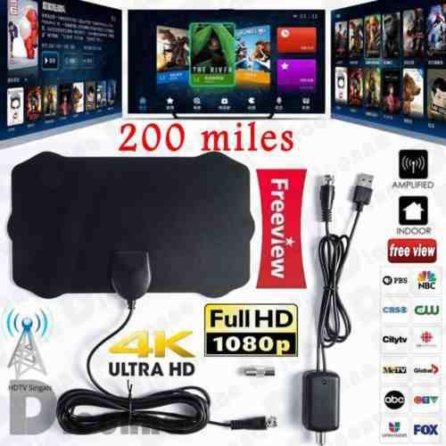 Antena digital tv hdtv 200 millas largo gama hdtv hd antena