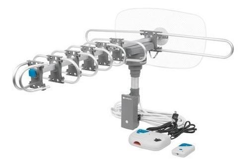 Antena exterior hdtv amplificada giratoria 360° control