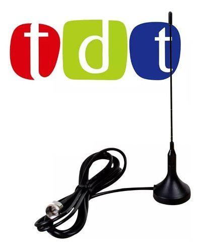 Antena tdt 3dbi para televisor o decodificador base iman
