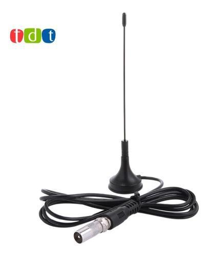 Antena tdt + conector iec macho tv decodificador base iman