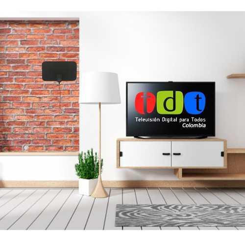 Antena tdt interior canales full hd tv digital amplificador