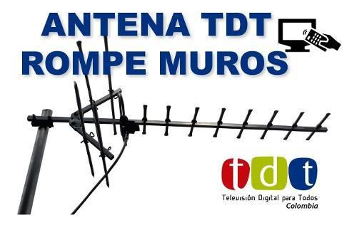 Antena tdt television alta potencia externa finca dvb-t2