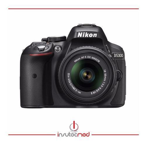 Camara nikon d5300 lente 18-55mm vr 24,2mpx + 32gb cl 10