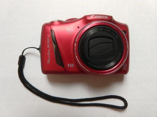 Cámara digital canon powershot sx150 is con accesorios