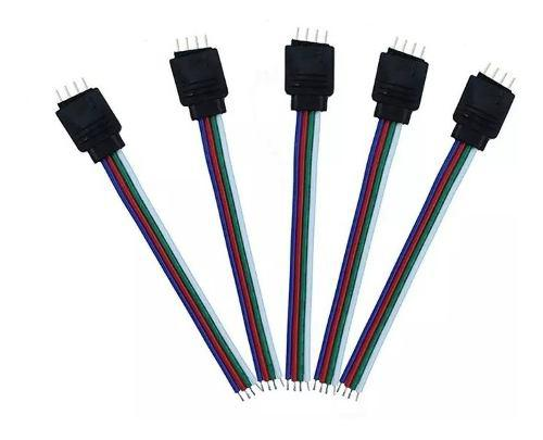 Conector rgb 4 pines macho hembra cinta led 5050 3528 supli