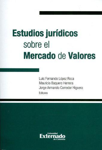 Estudios jurídicos sobre el mercado de valores