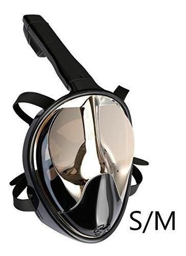 Máscara de esnórquel cara completa easybreath lentes panor