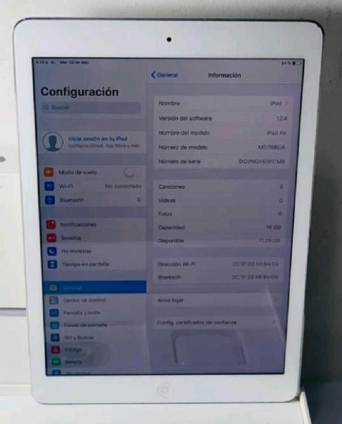 Ipad air 1 de 16 g. teclado belkin