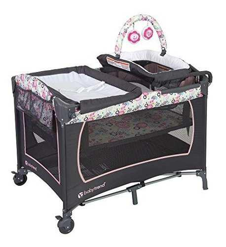 Baby trend lil snooze deluxe flora moises cuna corral bebe