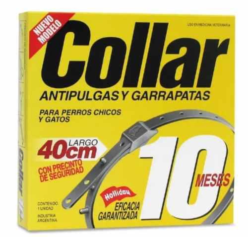 Collar 10 control pulgas garrapatas 40cms